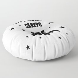 Superhero Sleeps Here Floor Pillow