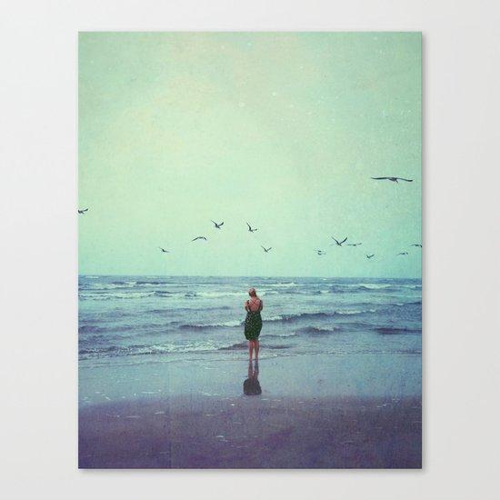 Woman on the Beach Canvas Print