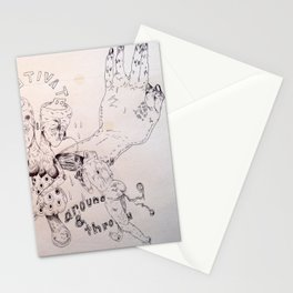 over around under and through Stationery Cards