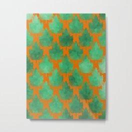 Leaf Line Up Metal Print