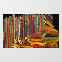 SHABBY CHIC ANTIQUE LIBRARY BOOKS, LEDGERS &  BOOKS Rug