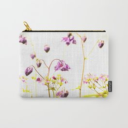 Purple Columbine By The Wall Carry-All Pouch