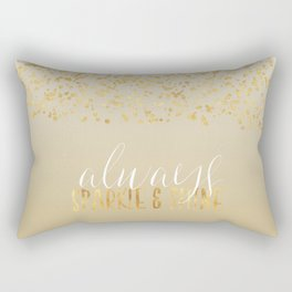 Gold Confetti Ombre Sparkle Rectangular Pillow