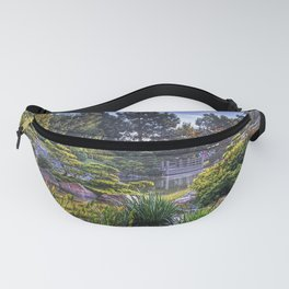 garden, pond, vegetation, light, colors, landscape Fanny Pack