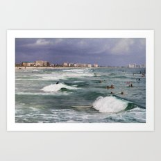 Busy Day In The Surf Art Print