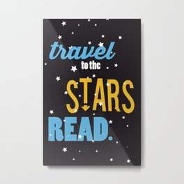 Stars - Just Read Metal Print