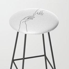 Creation of Adam Minimal Drawing Bar Stool