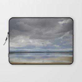 Light silver rain at the lake Laptop Sleeve