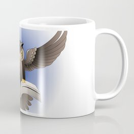 Brown Owl fly with the book Coffee Mug