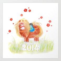 Happy New Year 2014  Art Print