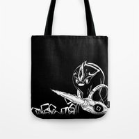 starcraft Tote Bags featuring Penguinoid by adru