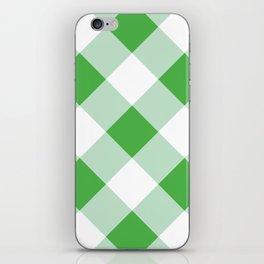 Gingham - Green iPhone Skin
