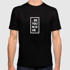 YOU AND YOURSELF (BLK) Black Mens Fitted Tee MEDIUM