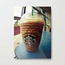 Starbucks Frappe Love Metal Print