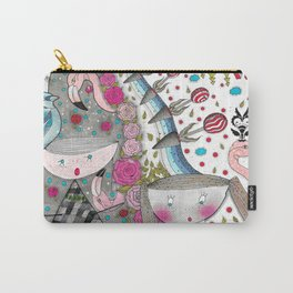 A flamingo hair woman Carry-All Pouch