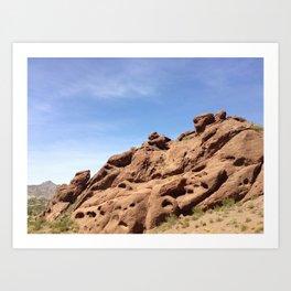 Camelback Mountain Rocks Art Print