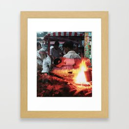 Adolescence Collage Framed Art Print