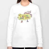 cherry blossom Long Sleeve T-shirts featuring Cherry Blossom by PINT GRAPHICS