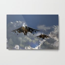 RAF Harrier Approach Metal Print