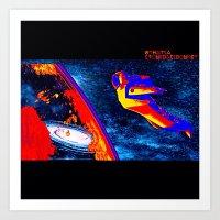 nasa Art Prints featuring Psychedelic NASA free-fall by ThatsAStonedAssDonkey