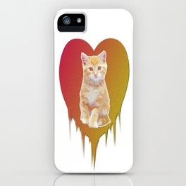 Cat in your heart iPhone Case