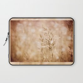 Sepia toned ripe grass inflorescence Laptop Sleeve