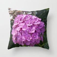 Hydrangea Pink Throw Pillow