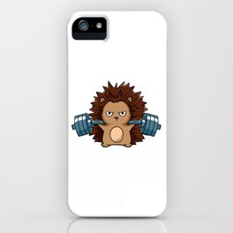Cute Animal Tee For Animal Lovers And Gym Goers Who Love Hedgehogs T-shirt Design Cute iPhone Case