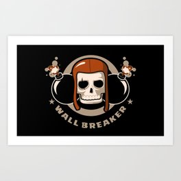 Clash of Clans The WALL BREAKER Art Print