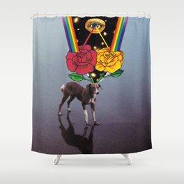 Thinking Shower Curtain