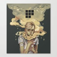 smoke Canvas Prints featuring Smoke by Arrrkal