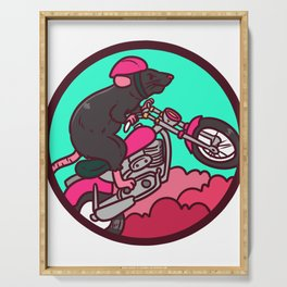 motorcycle, motorcycle driving Serving Tray
