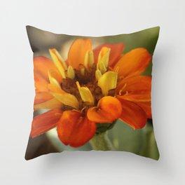Marigold Flower Throw Pillow