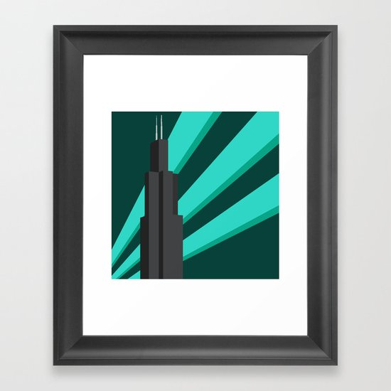 Sears Tower Framed Art Print