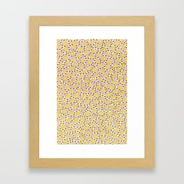 Ditsy Flora Yellow Framed Art Print