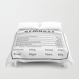 Gymnast Nutrition Ingredients Duvet Cover