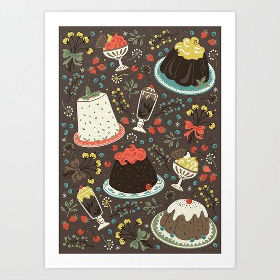 Sweet Deserts  Art Print