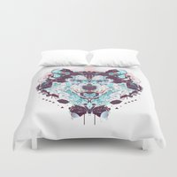 husky Duvet Covers featuring husky by yoaz