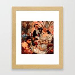 "Alphonse Mucha ""Biscuits Champagne Lefèvre Utile"" Framed Art Print"