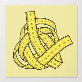 Yarn of measurements Canvas Print