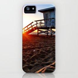 "Redondo Beach ""Life Guard Tower 3"" iPhone Case"