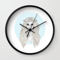 hippie Wall Clocks featuring Hippie by BeckiBoos