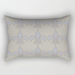 Fleur de lis....blue /orange color harmony neutral Rectangular Pillow