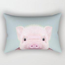 baby pig portrait  Rectangular Pillow