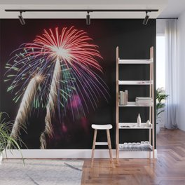 Palm Trees or Fireworks Wall Mural