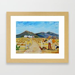 The Enmedio Ranch El Rancho de Enmedio Oil on Canvas Juan Manuel Rocha Kinkin Framed Art Print