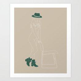 Nude-Green Art Print