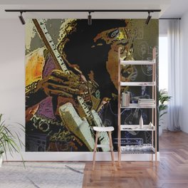 Jimmy Hendrix Wall Mural