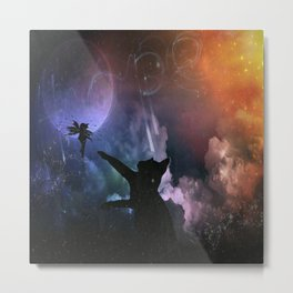 Fairy Chase Metal Print