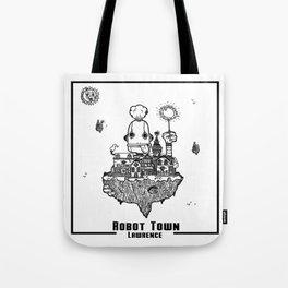 Robot Town Tote Bag